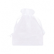 Jewellery Organza Bag 9x12cm White