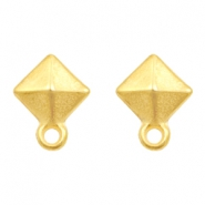 DQ metal findings earpin rhombus with loop Gold (nickel free)