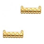 DQ metal charms bar with 10 loops Gold (nickel free)