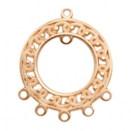 DQ metal charms round with 7 loops Rose Gold (nickel free)