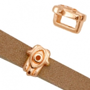 DQ metal sliders Hansma hand Ø5.2x2.2mm Rose Gold (nickel free)