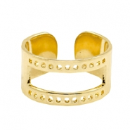 DQ metal findings base ring ( for macramé string) Gold (nickel free)