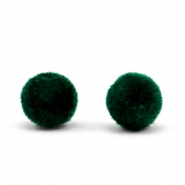 Velvet pompom beads 6mm Dark Green