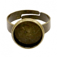Rings metal for cabochon 12mm Bronze