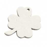 DQ leather charms clover large Off White