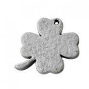 DQ leather charms clover medium Graphite Grey
