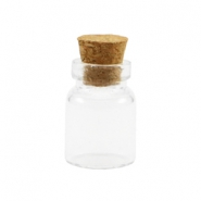 Wish bottle with cork 18x12mm Transparent