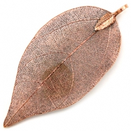 Charm with 1 loop metal leaf Copper