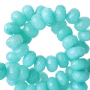 8 mm natural stone faceted beads disc Turquoise
