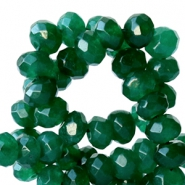 6 mm natural stone faceted beads disc Jade Emerald Green