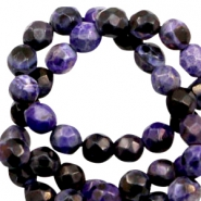 3 mm natural stone faceted beads disc Dark Purple