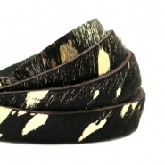 Natural Leather 10mm Black-Gold