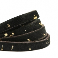 Natural Leather 6mm Black-Gold