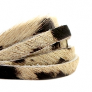 Natural Leather 6mm Beige-Black
