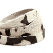 Natural Leather 10mm Off White-Black