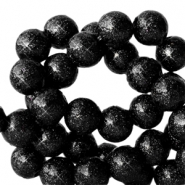 4 mm acrylic beads with glitter Black
