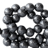 4 mm acrylic beads with glitter Anthracite