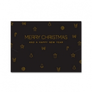 Jewellery cards Christmas Black-Gold