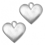 ImpressArt stamping blanks heart 19mm Pewter Silver