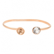 DQ metal findings bracelet with settings for SS39 Rose Gold (Nickel Free)