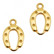 DQ metal charms horseshoe Gold (Nickel Free)