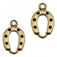 DQ metal charms horseshoe Antique Bronze (Nickel Free)