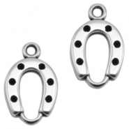 DQ metal charms horseshoe Antique Silver (Nickel Free)