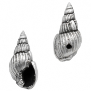 DQ metal charms shell Antique Silver (Nickel Free)