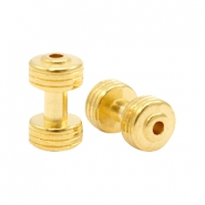 DQ metal charms dumbbell Gold (Nickel Free)