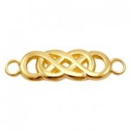 DQ metal charms connector infinity Gold (Nickel Free)