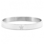 Stainless steel bracelets with star Silver