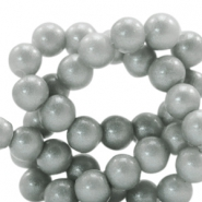 4 mm glass beads glitter dust Frosted Grey