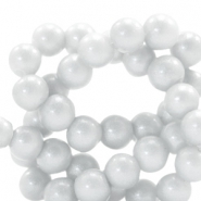 4 mm glass beads glitter dust Ice Grey
