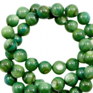 Shell beads round 8mm Classic Green
