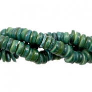 Shell beads disc 6mm Classic Green