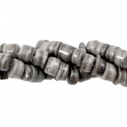 Shell beads disc 5-6mm Multicolour Grey