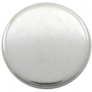 DQ European metal cabochons round 20mm Antique Silver (Nickel free)