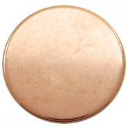 DQ European metal cabochons round 20mm Rose Gold (Nickel free)