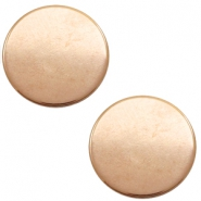 DQ European metal cabochons round 12mm Rose Gold (Nickel free)