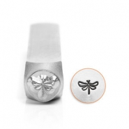 ImpressArt design stamps dragonfly 6mm Silver