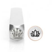 ImpressArt design stamps lotus 6mm Silver