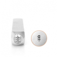 ImpressArt design stamps simple pine tree 4mm Silver