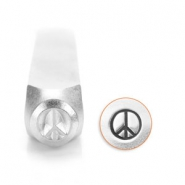 ImpressArt design stamps peace sign 6mm Silver