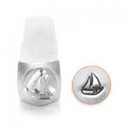 ImpressArt design stamps sail boat 6mm Silver