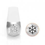ImpressArt design stamps snow flake 6mm Silver