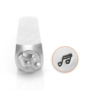 ImpressArt design stamps music note 6mm Silver