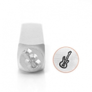 ImpressArt design stamps guitar 6mm Silver