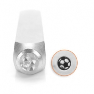 ImpressArt design stamps soccer ball 6mm Silver