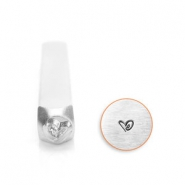 ImpressArt design stamps boogie heart 3mm Silver