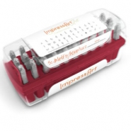 ImpressArt Scarlett's Signature letter stamps set Lowercase 2.5mm Red
